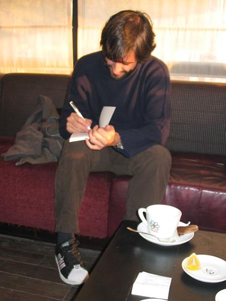 Promocije knjiga - 11.11.2006. Promocija romana Tirkizno-plavo mladog portugalskog autora Jacinta Lucasa Piresa na zagrebačkom Interliberu.
